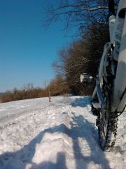vélo,vtt,entraînement,neige,équilibre