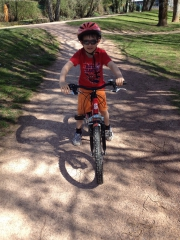 vélo,vtt,enfant,printemps